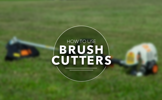 How to use brush cutters?