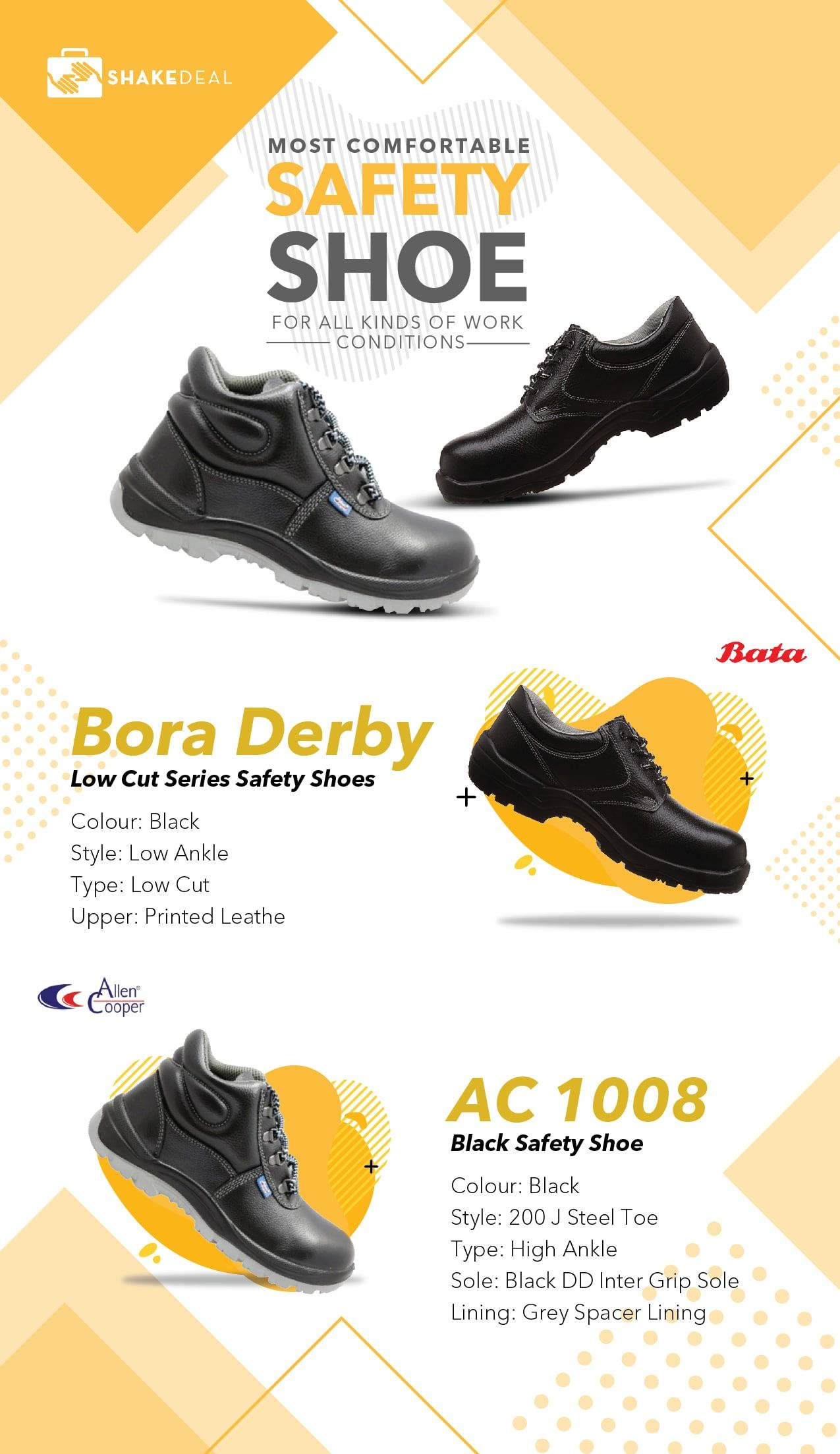 Most Comfortable Safety Shoes for all Kind of Work