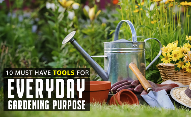 10 Must have Tools for Everyday Gardening Purpose