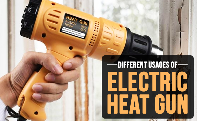 Different usages of electric heat gun